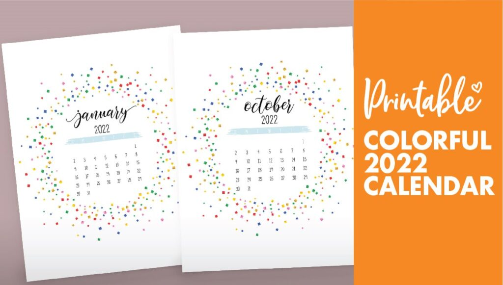 2022 free printable calendar