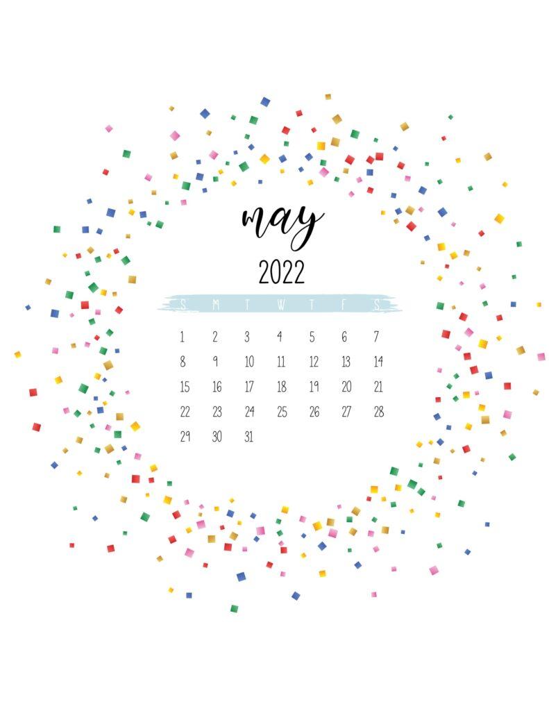 2022 free printable calendar - may