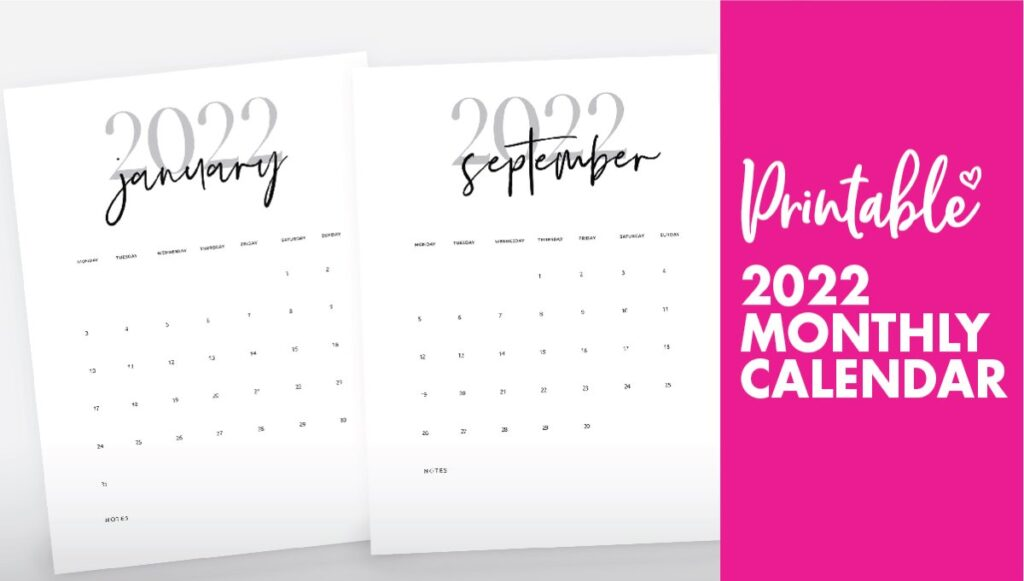 2022 monthly calendar printable - calendar 2022