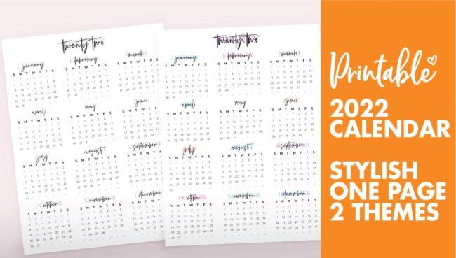 2022 year calendar - calendar 2022