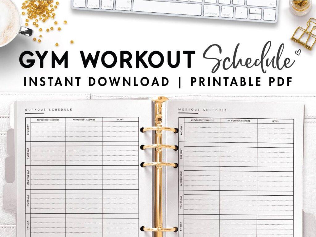6 day gym workout schedule pdf