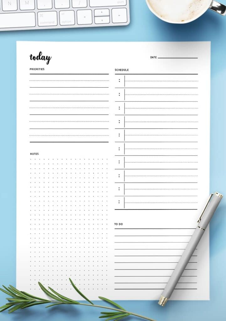 aesthetic to do list template