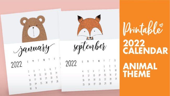 animal calendars 2022
