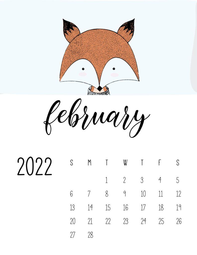 animal calendars 2022 - february