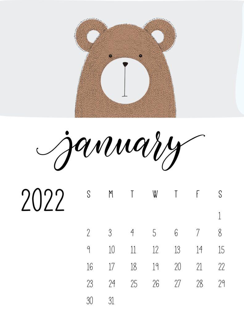 animal calendars 2022 - january