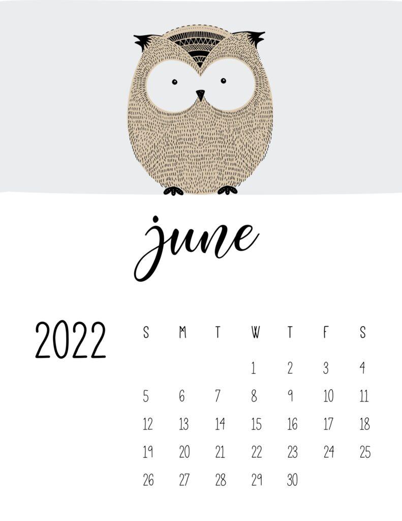 animal calendars 2022 - june