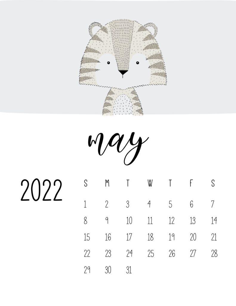 animal calendars 2022 - may