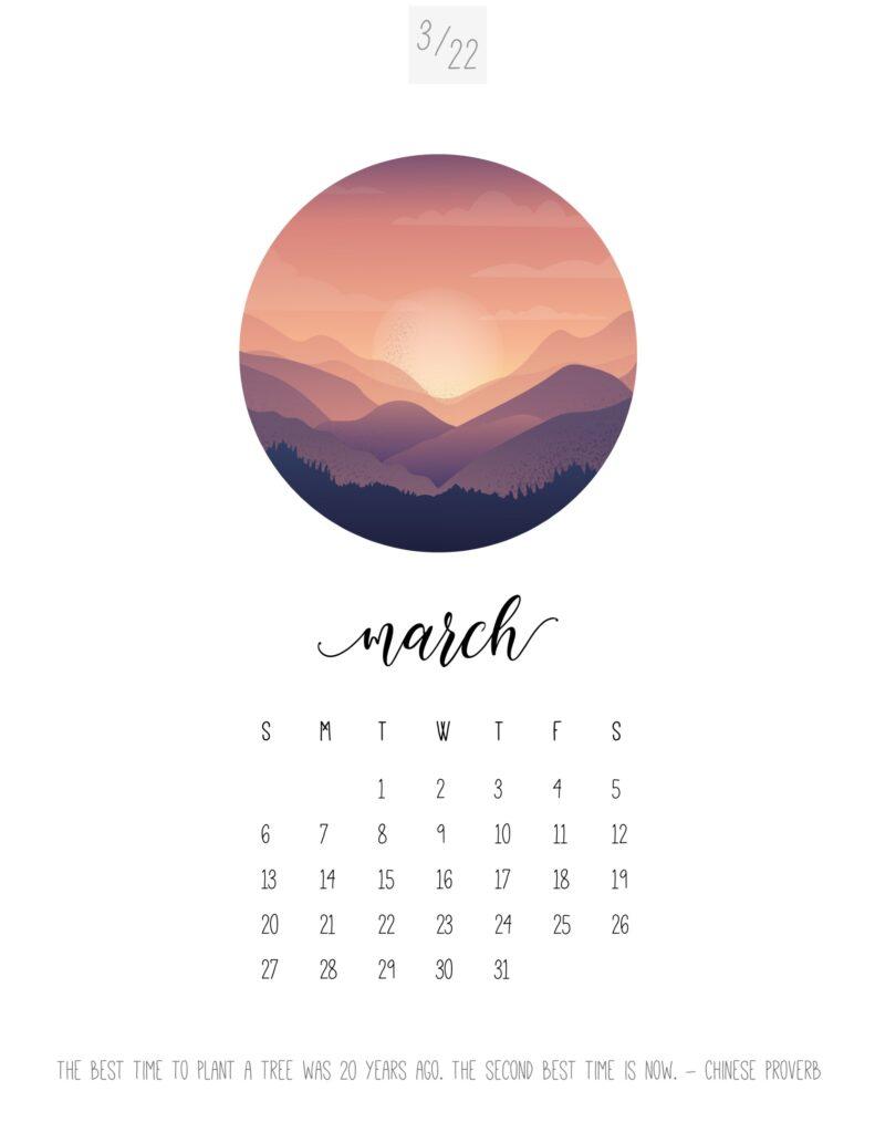 art calendar 2022 - may
