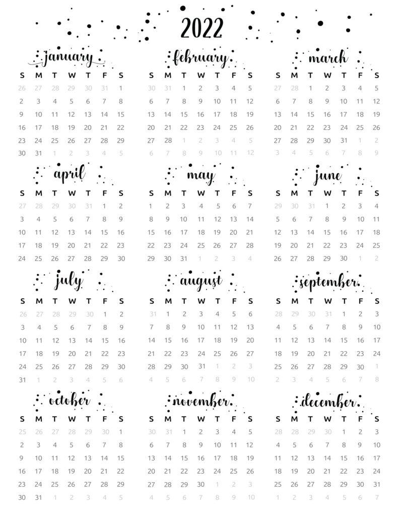 at a glance calendar 2022
