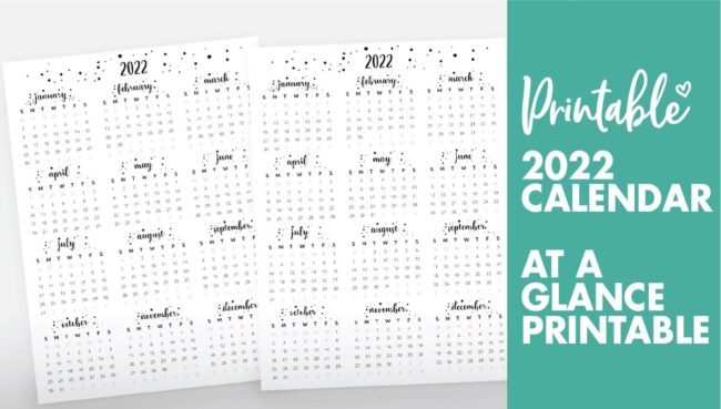 at a glance calendar 2022 - calendar 2022