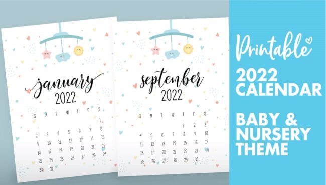 baby calendar 2022