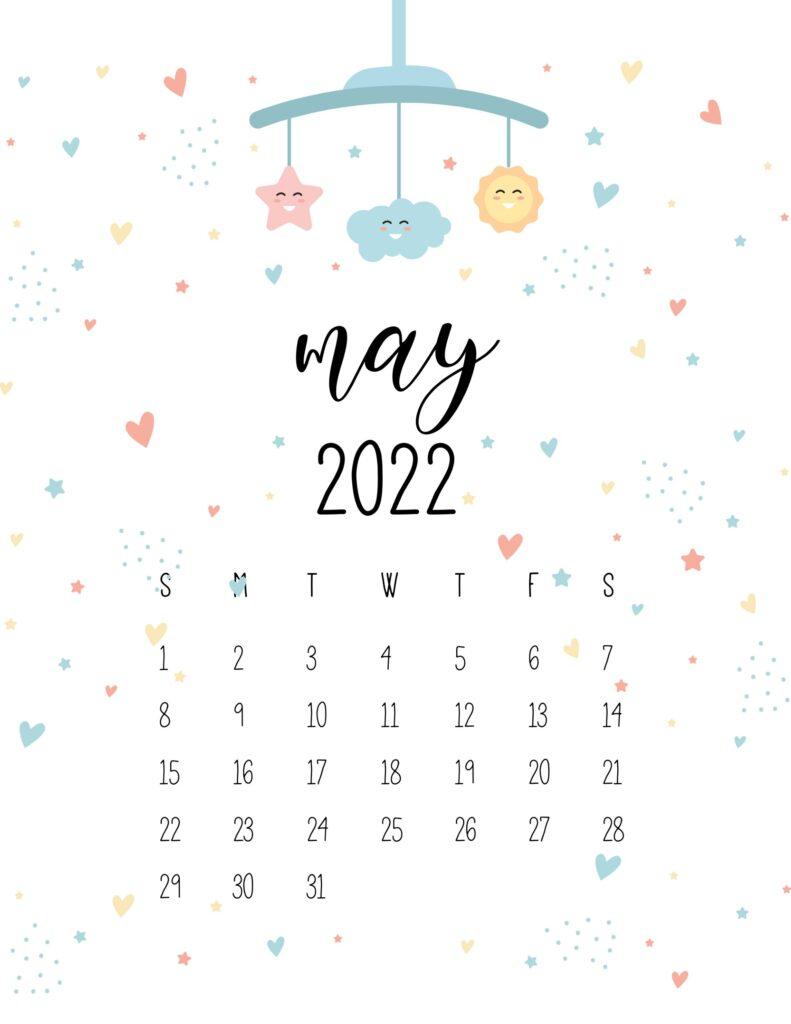 baby calendar 2022 - may