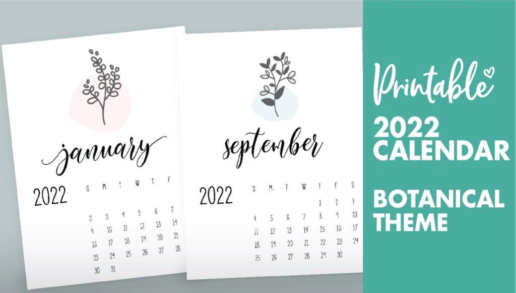 botanical calendar 2022