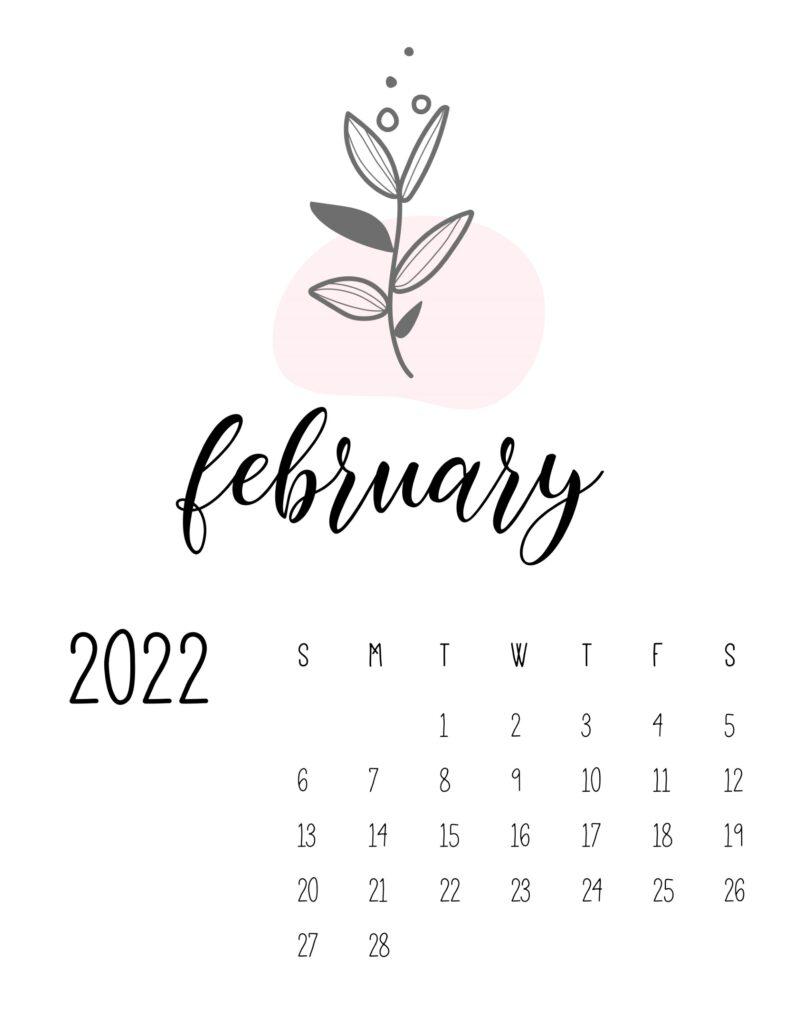 botanical calendar 2022 - february