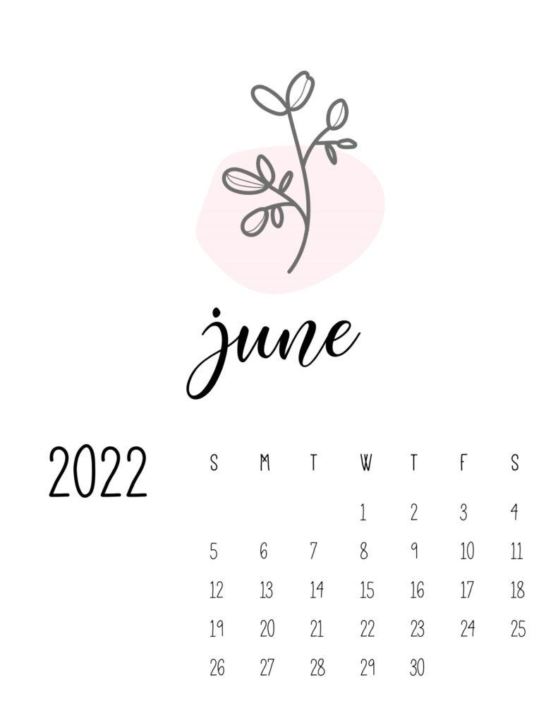 botanical calendar 2022 - june