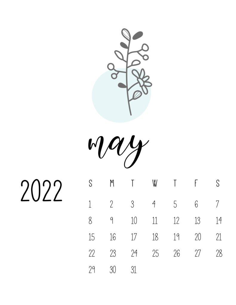 botanical calendar 2022 - may