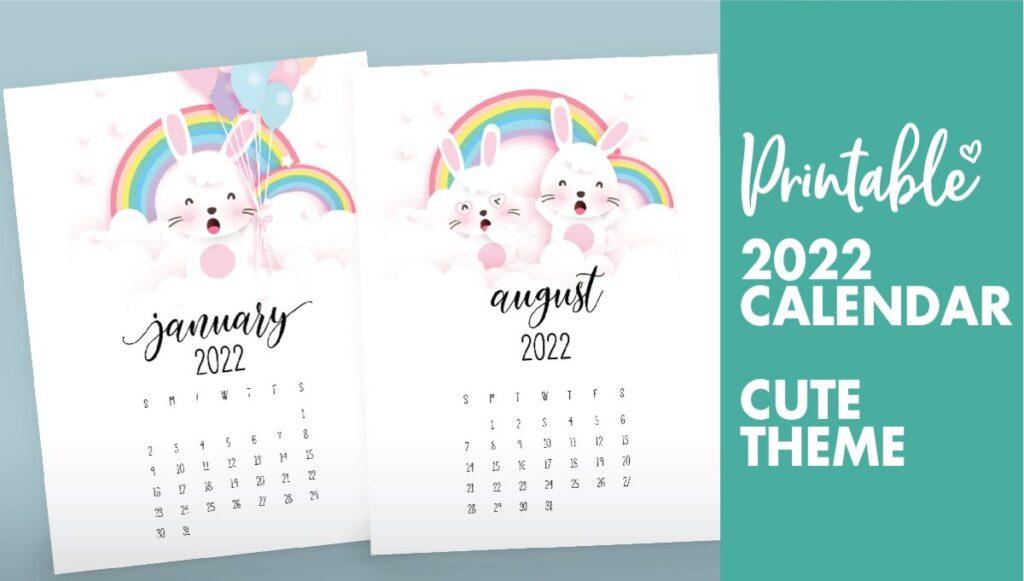 bunny calendar 2022