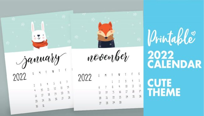 childrens calendar 2022