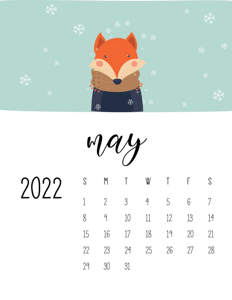 childrens calendar 2022 - may