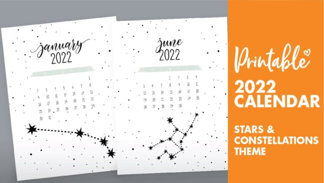 constellations calendar 2022