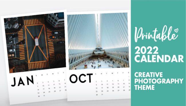 creative photography calendar 2022