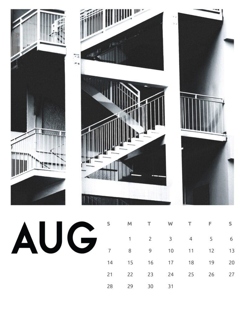 creative photography calendar 2022 - August