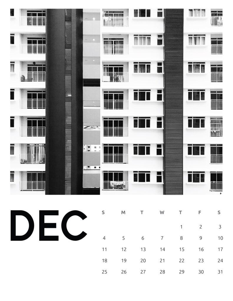 creative photography calendar 2022 - December