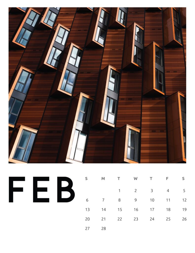 creative photography calendar 2022 - february