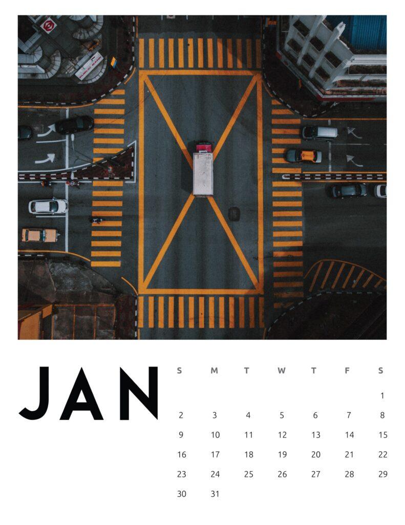 creative photography calendar 2022 - january