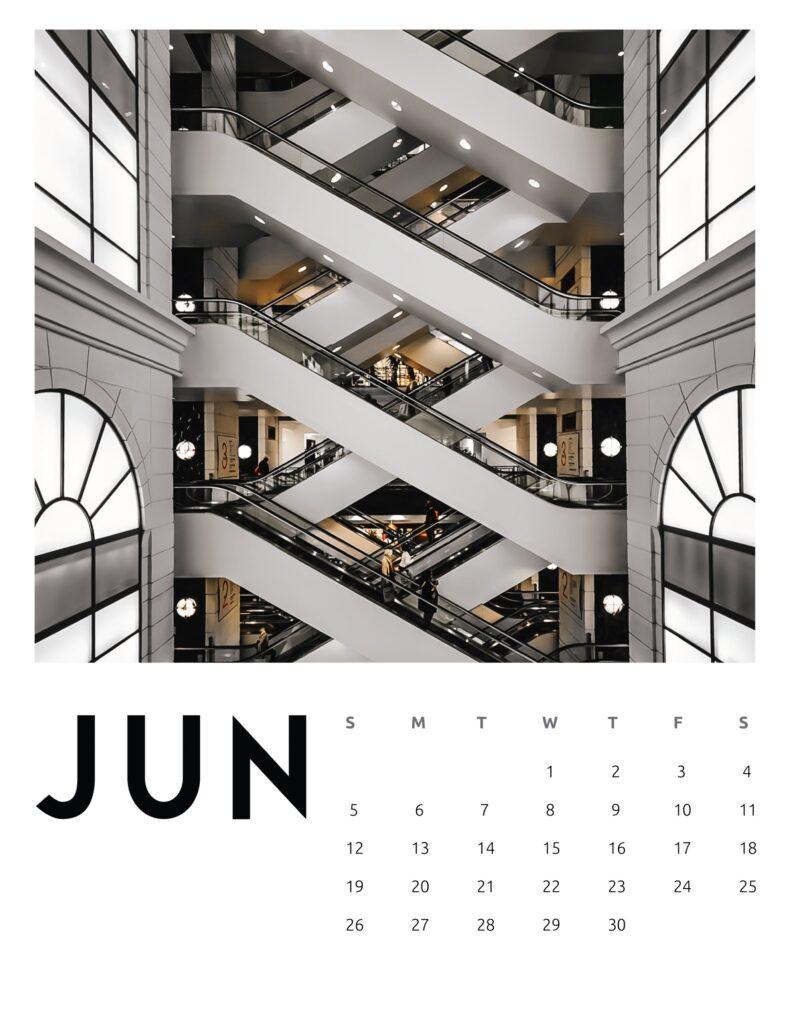 creative photography calendar 2022 - June