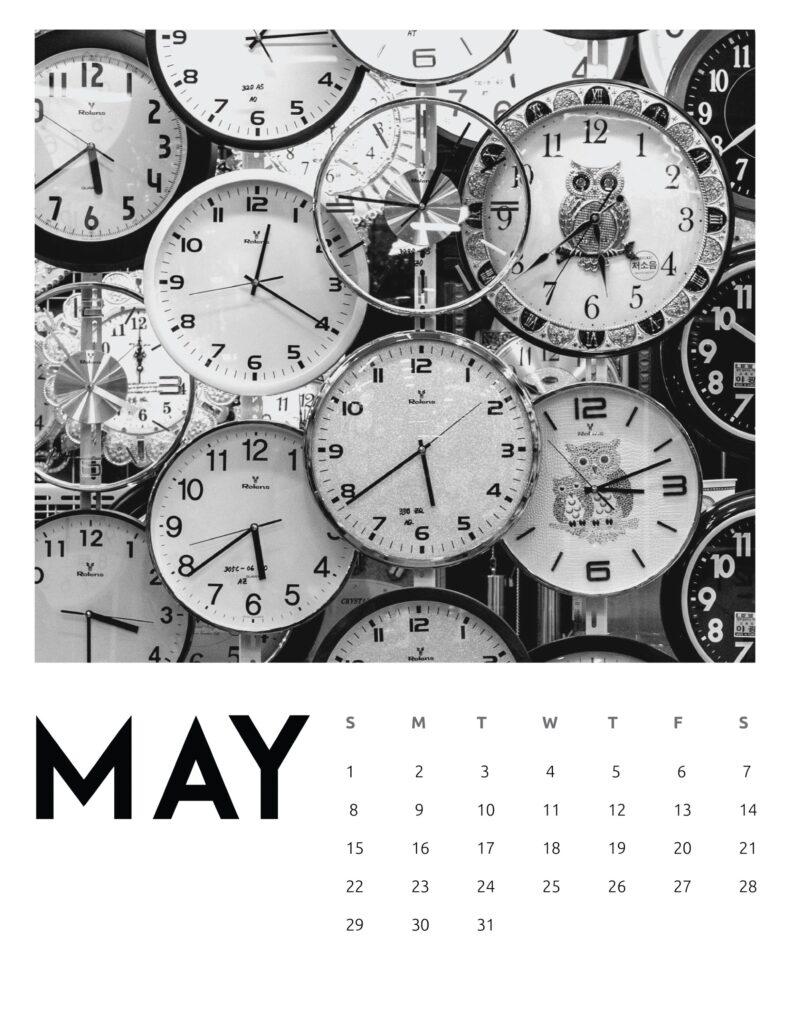 creative photography calendar 2022 - may