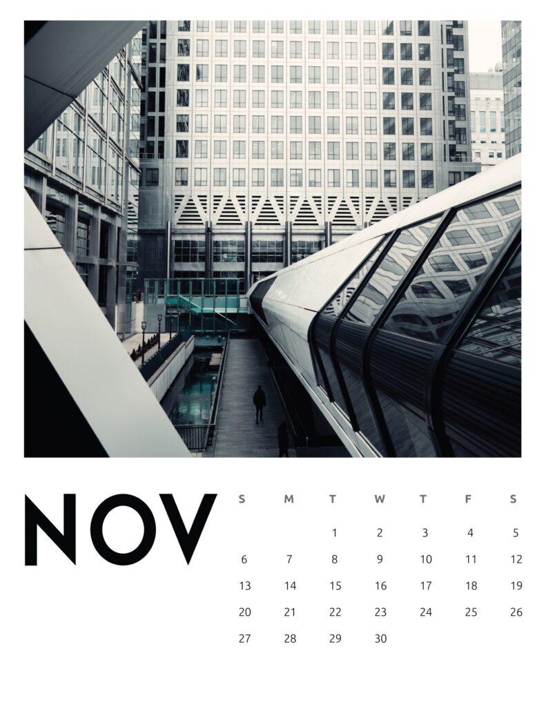 creative photography calendar 2022 - November