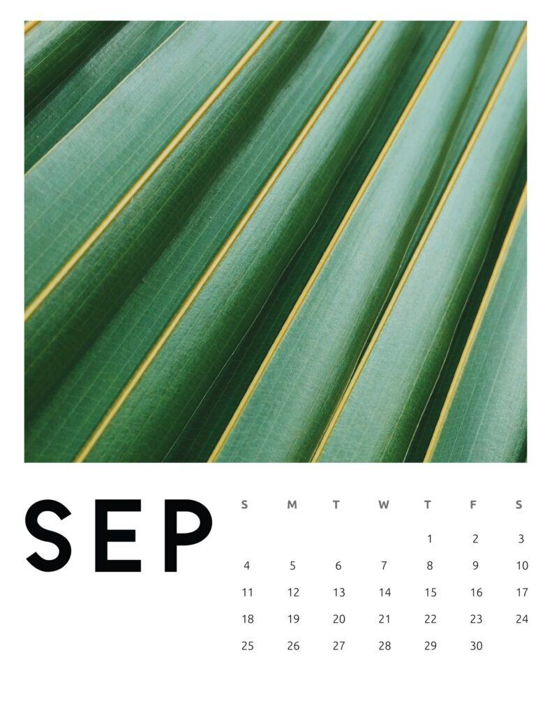 creative photography calendar 2022 - September