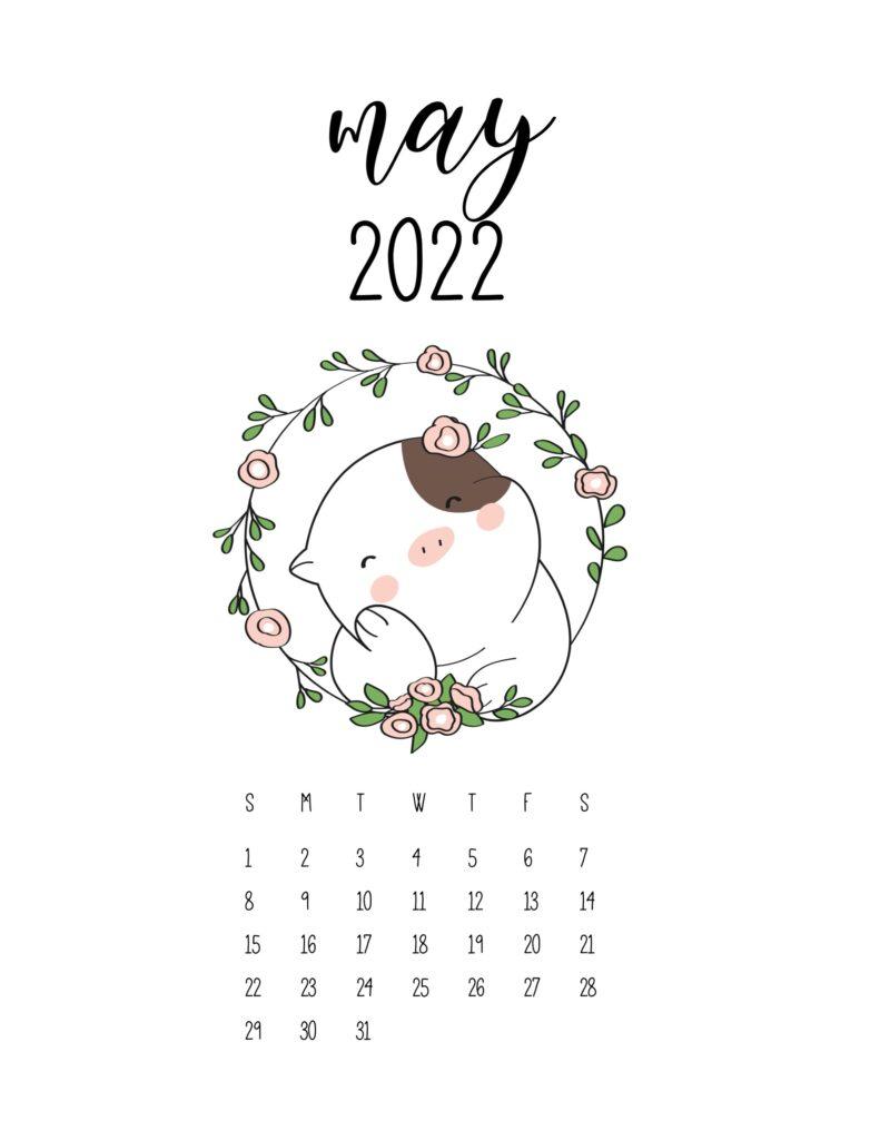cute calendar 2022 - may