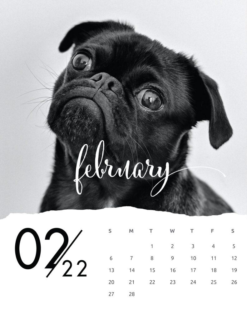 family calendar 2022 - february