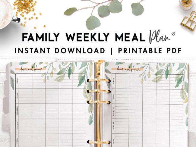 family week meal plan