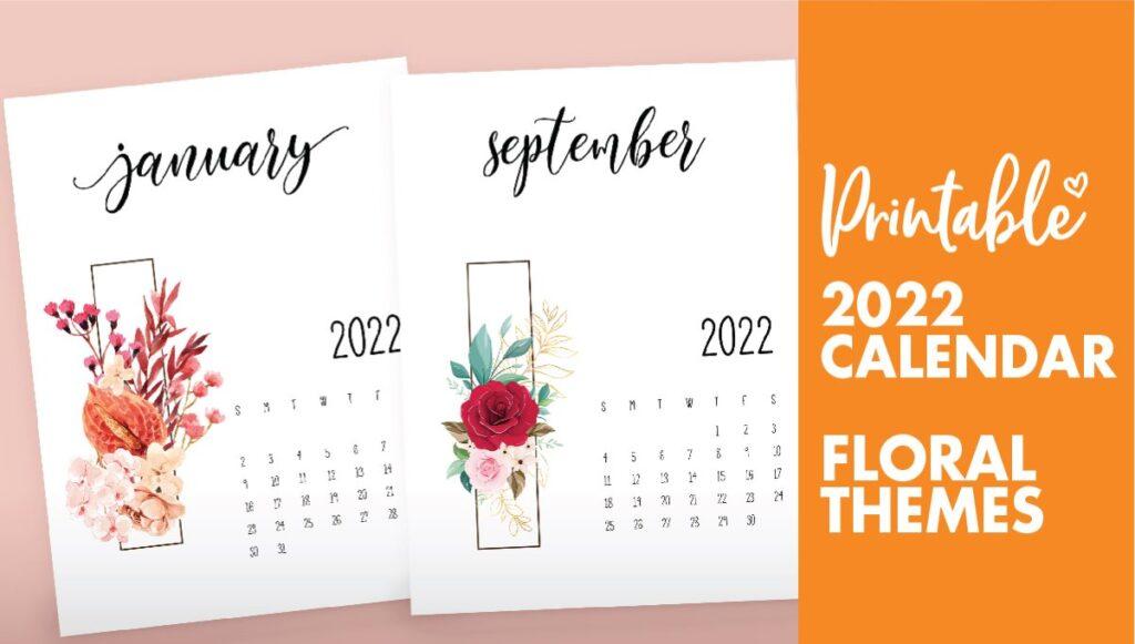 floral 2022 calendar