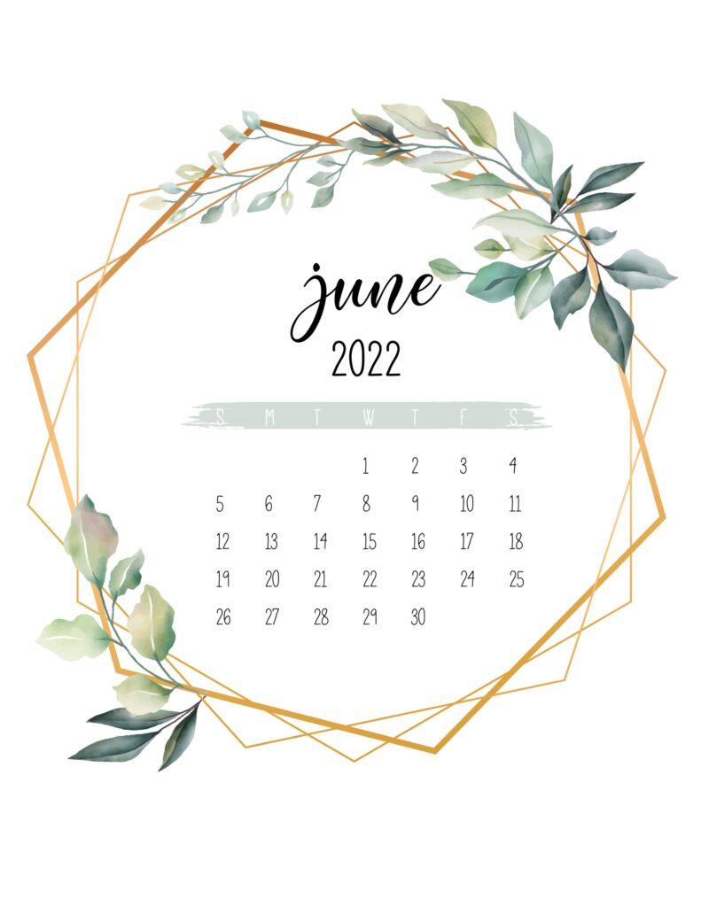free 2022 calendar printable - june