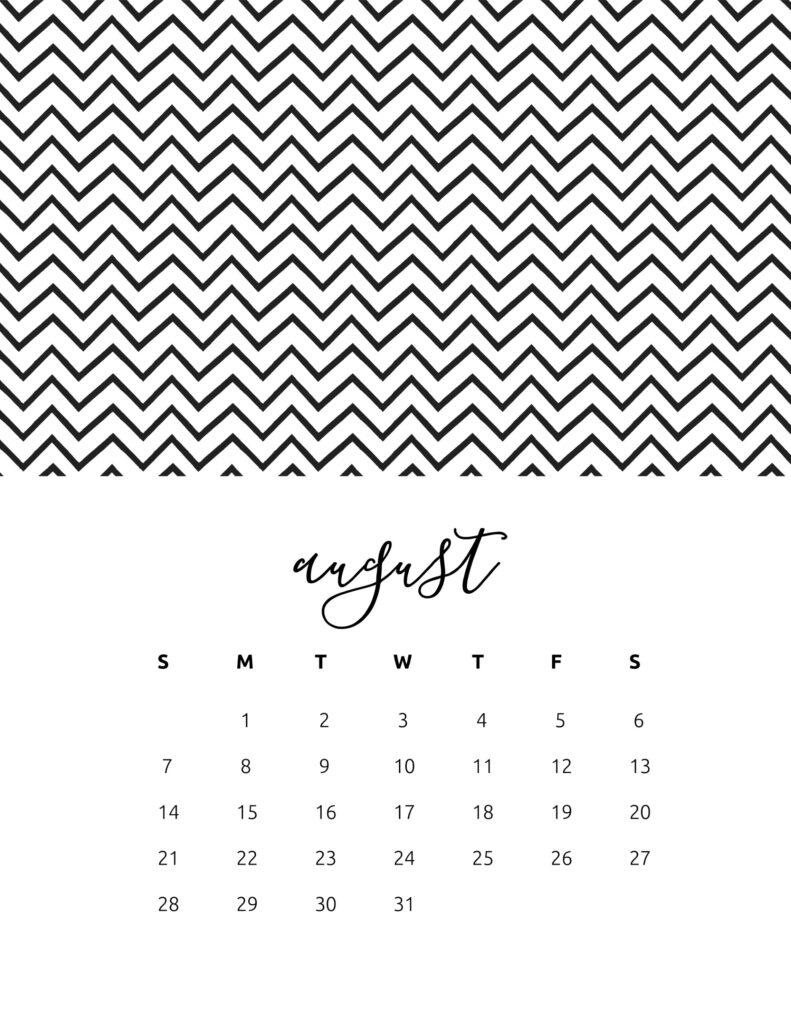 free calendar 2022 - august
