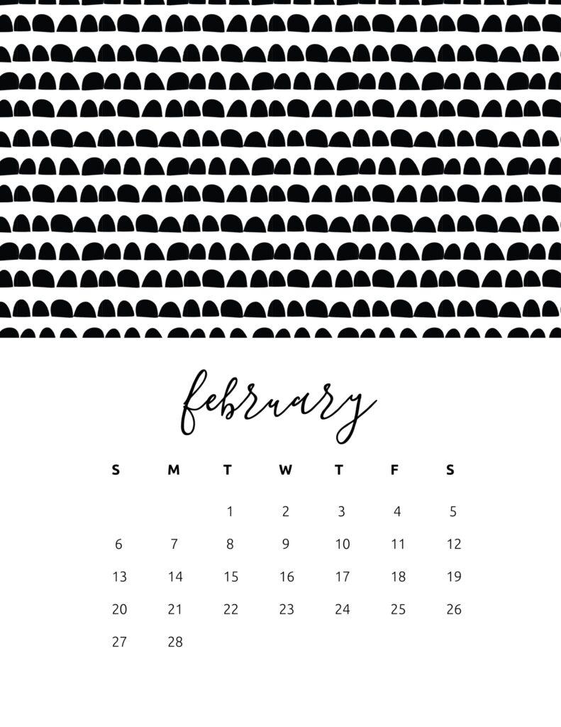 free calendar 2022 - february