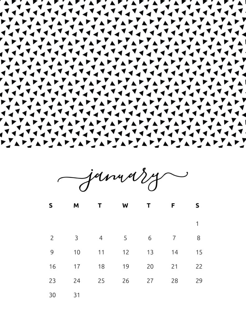 free calendar 2022 - january