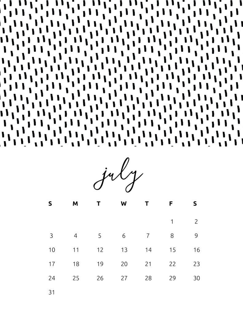 free calendar 2022 - july