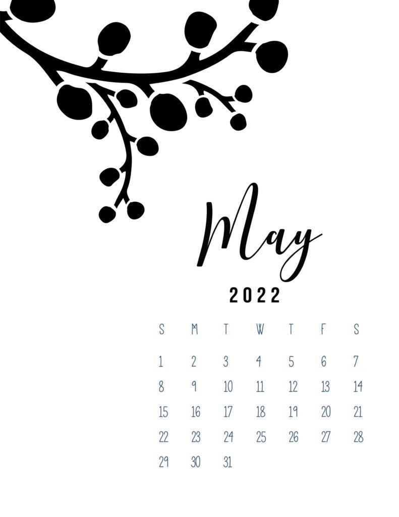 free calendar template 2022 - may