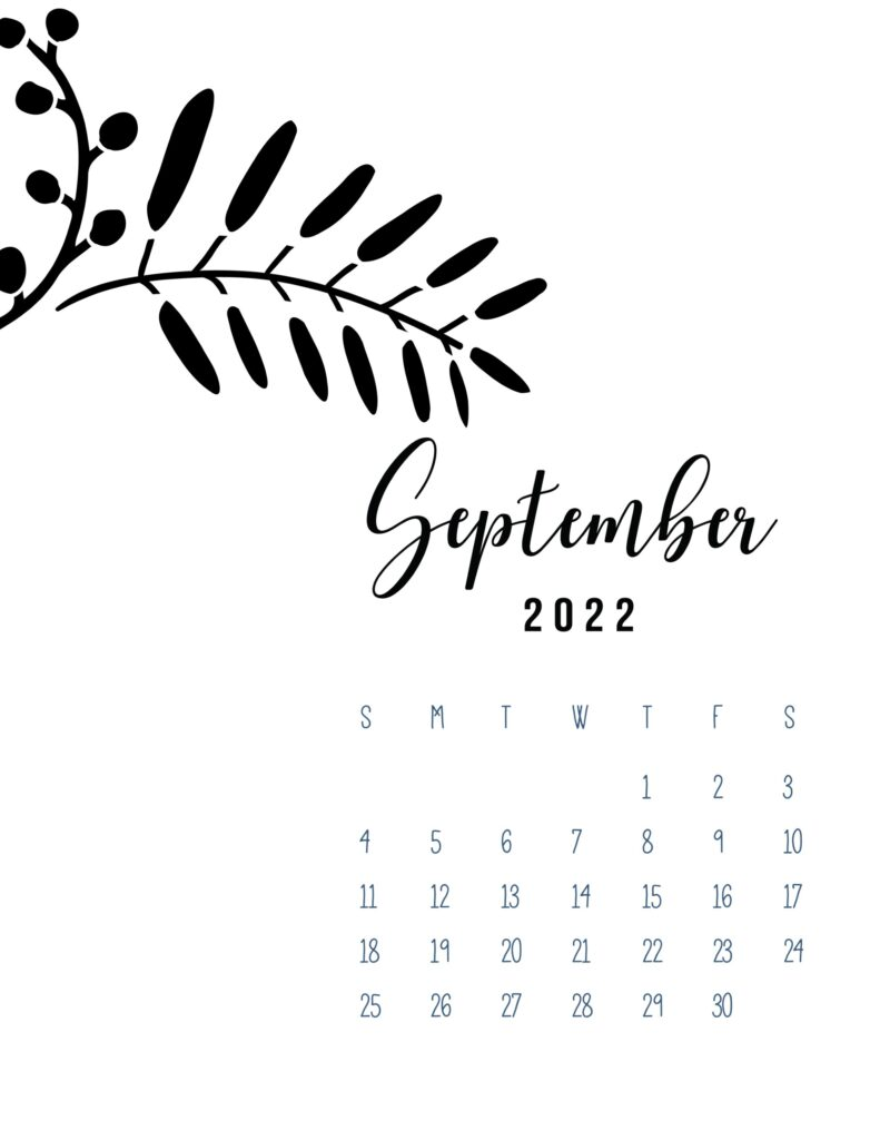 free calendar template 2022 - september