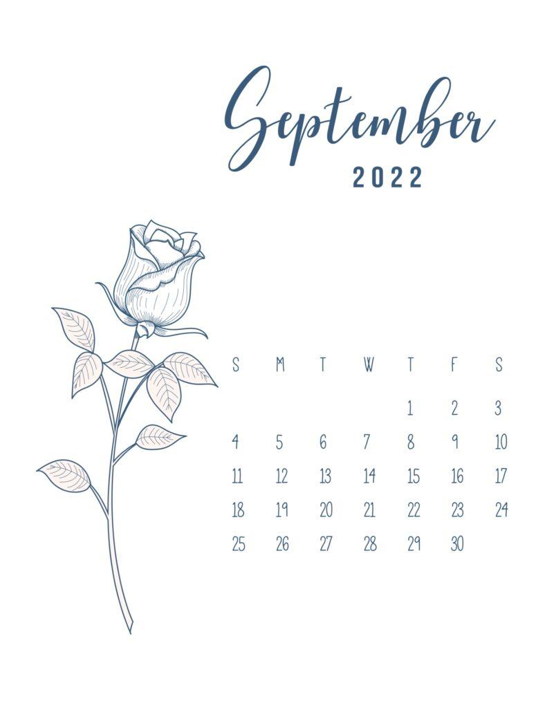 free printable 2022 calendar - september