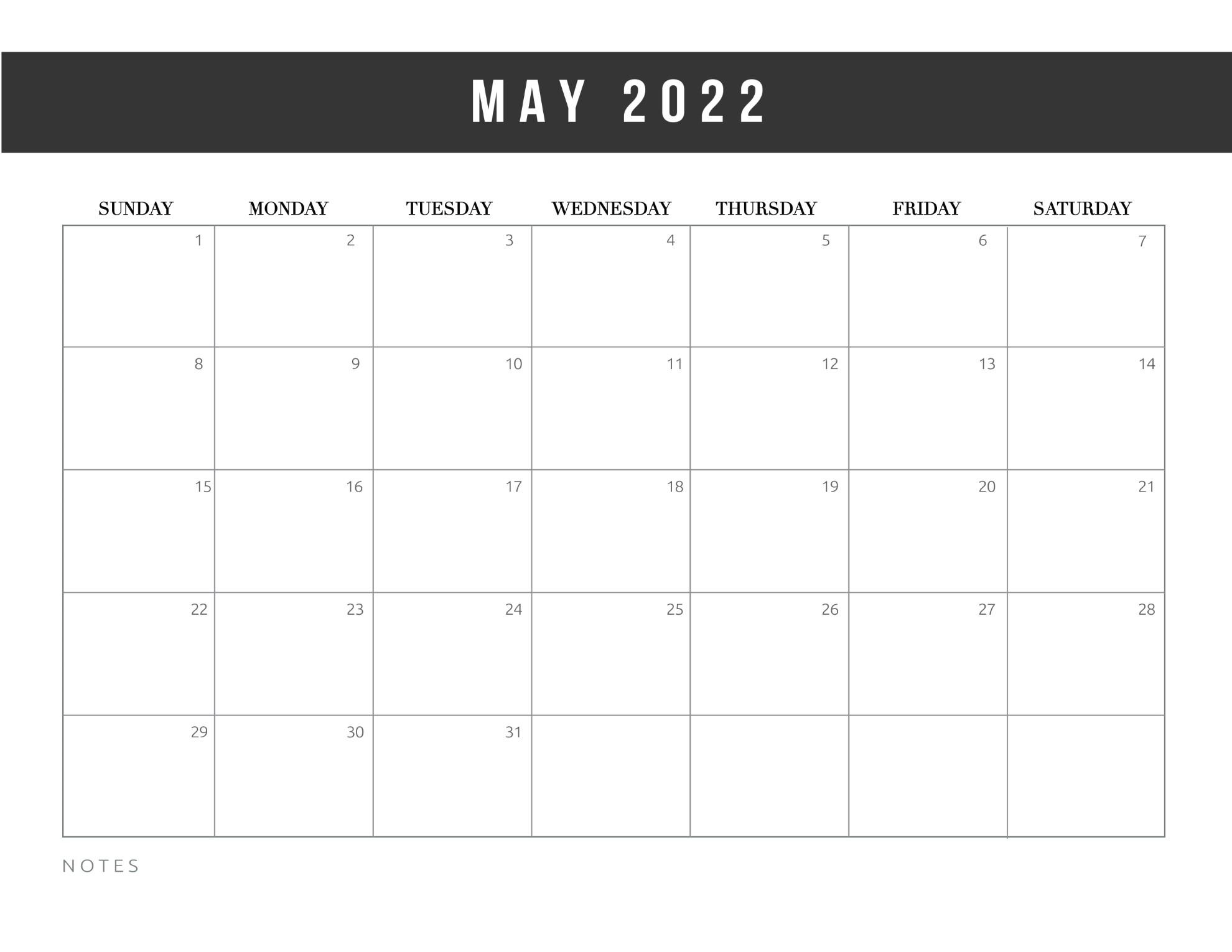 Free Printable 2022 Calendar Template World Of Printables