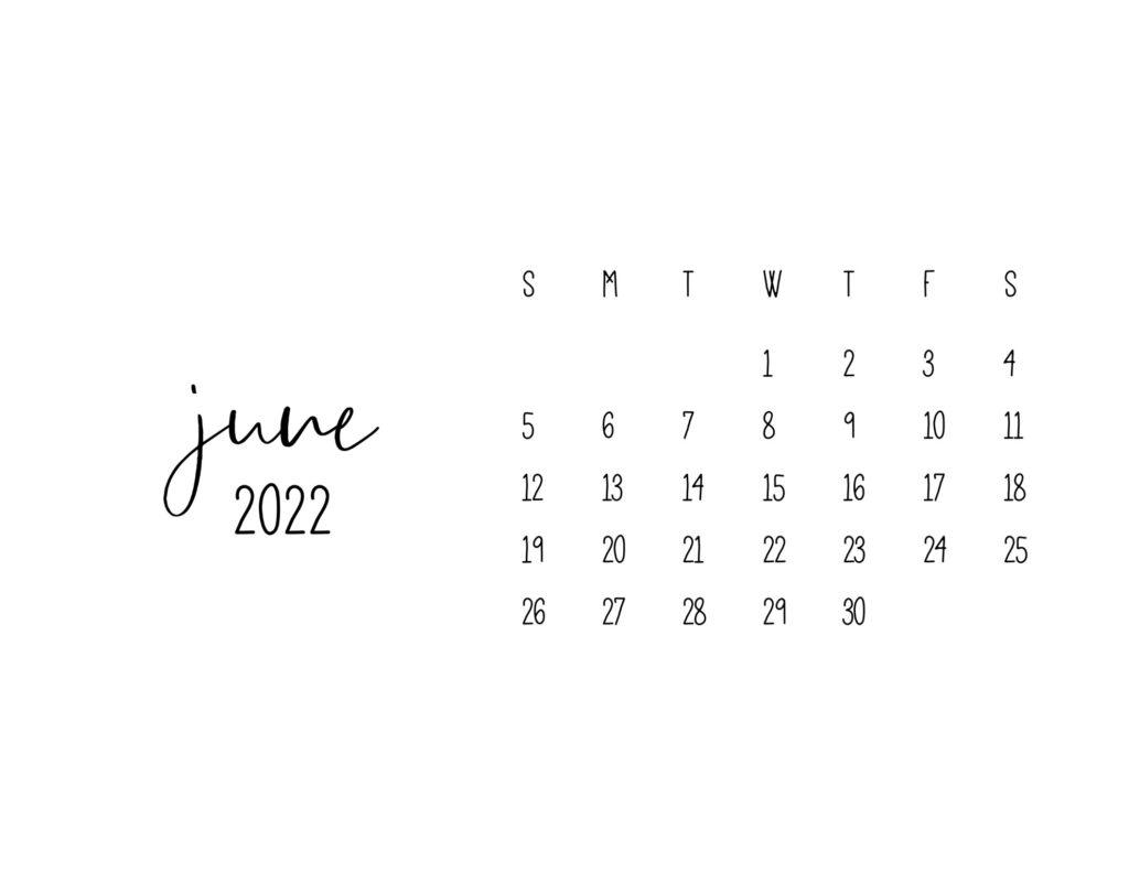 free printable calendars 2022 - june