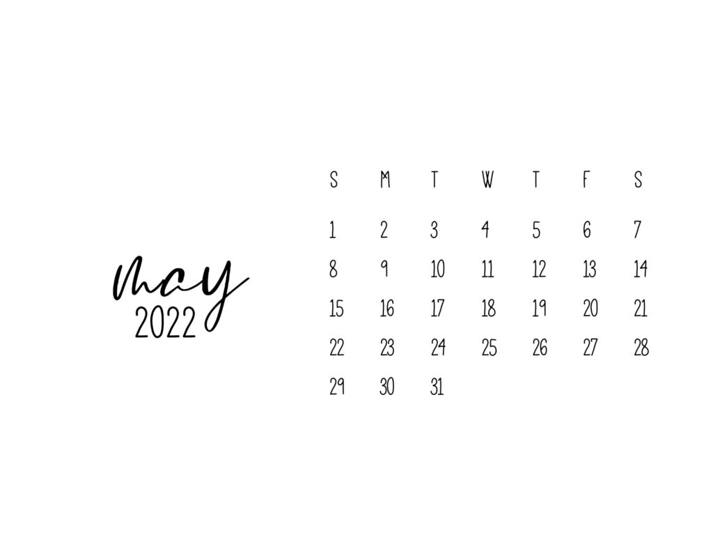 free printable calendars 2022 - may