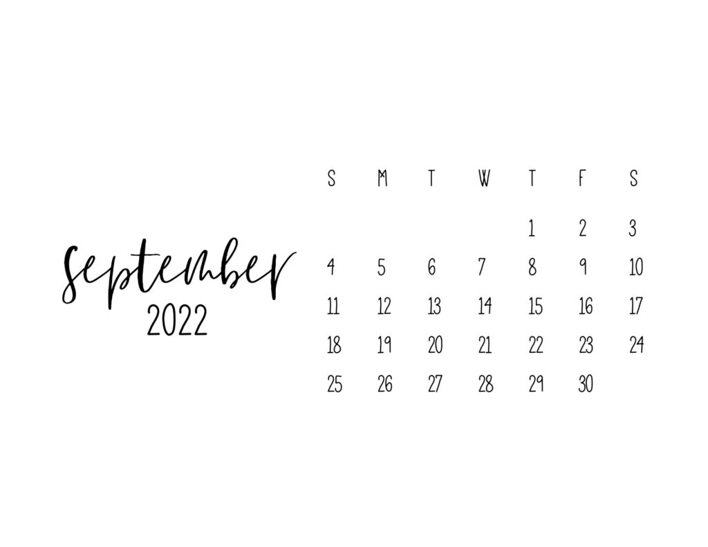 free printable calendars 2022 - september