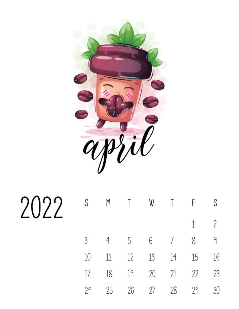 funny calendar 2022 - april
